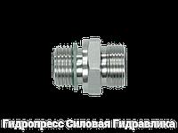 Прямое трубное соединение резьба цилиндрическая, мягкое уплотнение wd - без накидной гайки и врезного кольца,