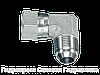 Угловое резьбовое соединение 90° адаптер, с отбортовкой, Нержавеющая сталь