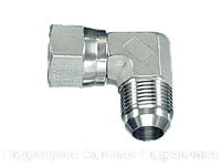 Угловое резьбовое соединение 90° адаптер, с отбортовкой, Нержавеющая сталь, фото 1