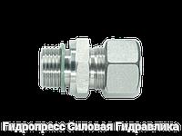 Прямое трубное соединение резьба цилиндрическая, мягкое уплотнение wd - с накидной гайкой типа SC, Нержавеющая