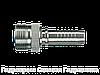 Ниппель L – легкая серия - внешняя метрическая резьба - угол уплотнения 24°, Нержавеющая сталь