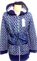 """Кофта-кардиган для девочек подросток """"Киви-2/1"""" с капюшоном р 140, 146,152"""