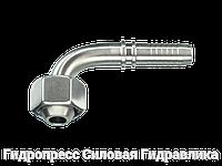 Ниппель Гаечная резьба BSP (DKR) – конус 60° – yгловые соединения 90°, Нержавеющая сталь