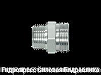 Прямое трубное соединение с конической резьбой, без накидной гайки и врезного кольца, Нержавеющая сталь