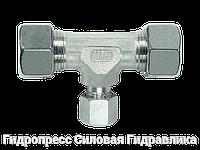 Тройник, Резьбовые соединения TRV - с накидной гайкой типа SC, Нержавеющая сталь