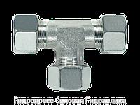 Тройник, Резьбовые соединения TV - с накидной гайкой типа SC, Нержавеющая сталь