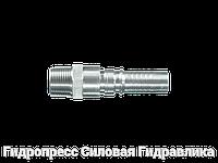 Ниппель трубный Арматура серии Interlock с внешней резьбой NPT, Нержавеющая сталь, фото 1