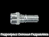 Ниппель трубный Арматура серии Interlock – CES - угол уплотнения 24°, Нержавеющая сталь