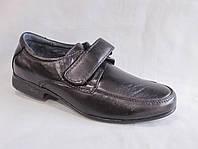 Детские туфли на мальчика 31-36 р.,округлый носок, на липучке