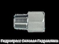 Резьбовые переходники, NPT - внешняя резьба - NPT - внутренняя резьба - форма Б, Нержавеющая сталь