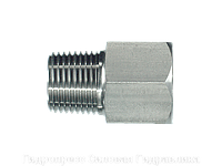 Резьбовые переходники, NPT - внешняя резьба - BSP - внутренняя резьба - форма Б, Нержавеющая сталь