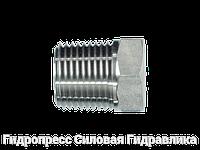 Резьбовые переходники, NPT - внешняя резьба - BSP - внутренняя резьба - форма A, Нержавеющая сталь, фото 1