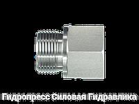 Резьбовые переходники, BSP - внешняя резьба - NPT - внутренняя резьба - форма Б, Нержавеющая сталь