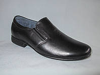 Туфли на мальчика оптом 31-36 р.,гладкие на низком каблуке