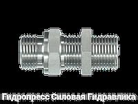 Прямой переборочный адаптер - BSP - цилиндрическая - внешняя резьба, Нержавеющая сталь