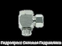 Угловые трубные соединение с кольцом уплотнения - цилиндрический, Нержавеющая сталь