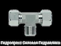 Трійник різьба метрична - конусна - SC, Нержавіюча сталь