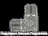 Угловой адаптер - NPT - NPT - внешняя резьба - 90°, Нержавеющая сталь