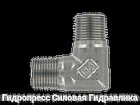 Угловой адаптер - NPT - NPT - внешняя резьба - 90°, Нержавеющая сталь, фото 1