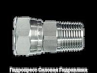 Соединение прямое, BSP - внутренняя резьба - BSP - коническая резьба, Нержавеющая сталь