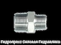 Соединение прямое, BSP - коническая резьба - BSP - коническая резьба - переходник, Нержавеющая сталь