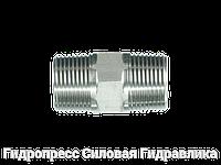Соединение прямое, BSP - коническая резьба - BSP - коническая резьба, Нержавеющая сталь