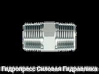 Соединение прямое, NPT - NPT, Нержавеющая сталь