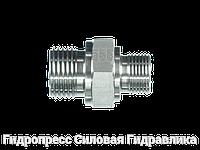 Соединение прямое, BSP - цилиндрическая резьба - переходник - конус 60°, Нержавеющая сталь