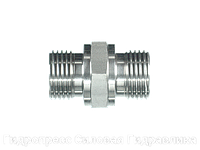 Соединение прямое, BSP - цилиндрическая резьба - плоское уплотнение, Нержавеющая сталь
