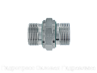 """Соединение прямое,  BSP - цилиндрическая резьба - конус 60° с мягким уплотнителем """"WD"""", Нержавеющая сталь"""