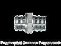 Соединение прямое, BSP - цилиндрическая резьба - BSP - коническая резьба, Нержавеющая сталь