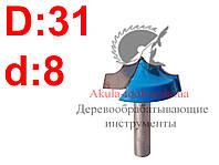 D31 h14 d8 Фреза Karnasch пазовая фасонная фреза