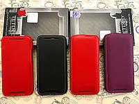 Кожаный чехол флип TetDed и чехол книжка TetDed для HTC One M8 черный красный фиолетовый, фото 1
