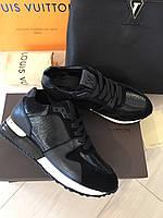 Модные женские кроссовки LOUIS VUITTON RUN AWAY черные
