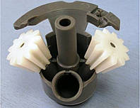 Редуктор на 2 шестерни, комплект планетарных шестеренок для мясорубки Бош Bosch 611988 (не оригинал)