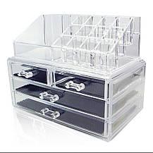 Акриловый органайзер для косметики Cosmetic Storage Box, фото 2