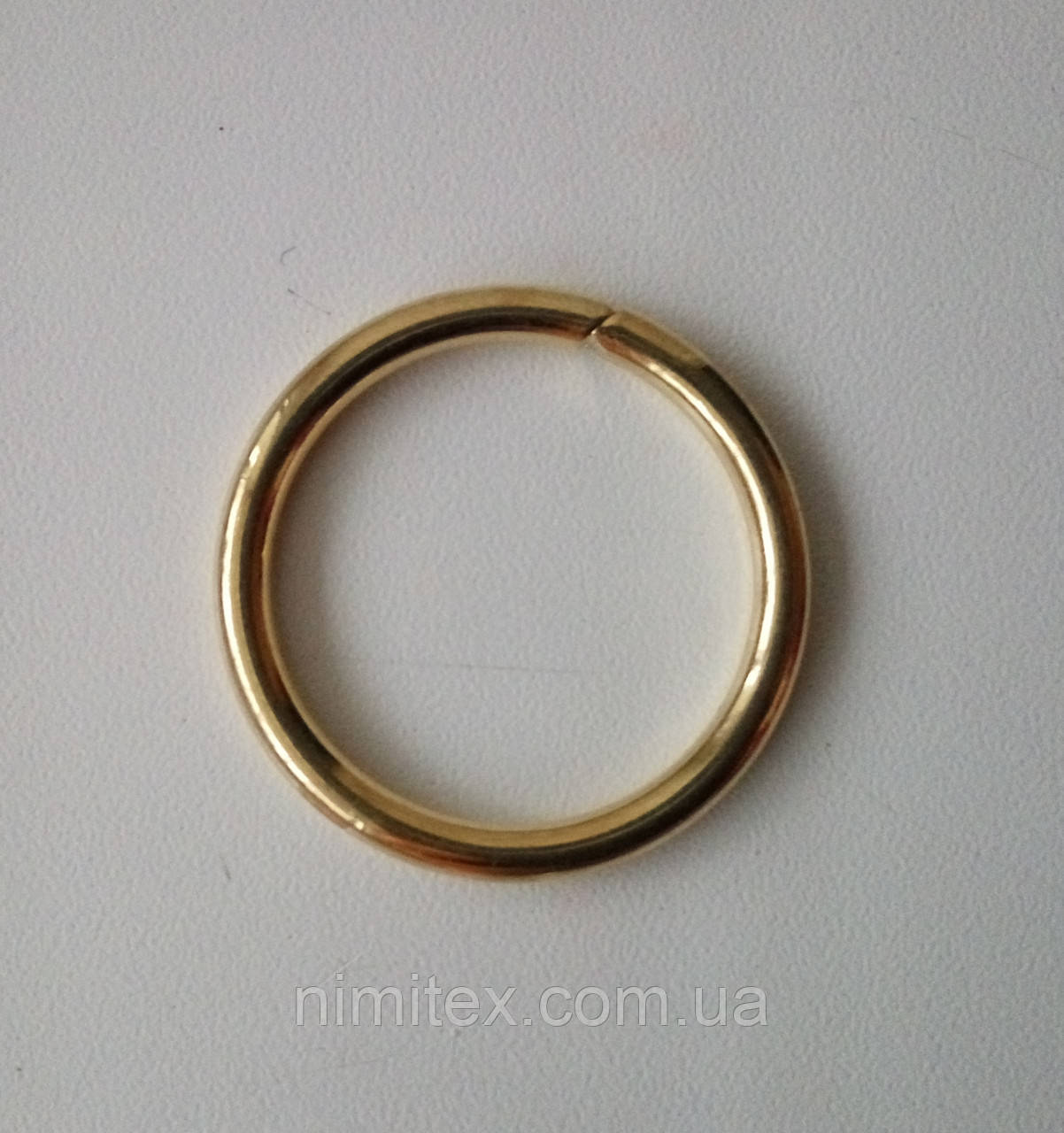 Кольцо литое сварное 25 мм золото