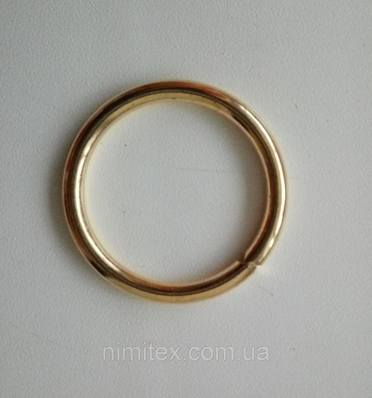 Кольцо литое сварное 31 мм золото