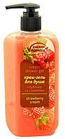 Крем- гель для душа ENERGY of Vitamins клубника со сливками 260 мл