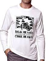 Break The Wall - Футболка Мужская с длинным рукавом (лонгслив) с Дизайном