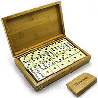 Настольная игра домино в бамбуковом футляре