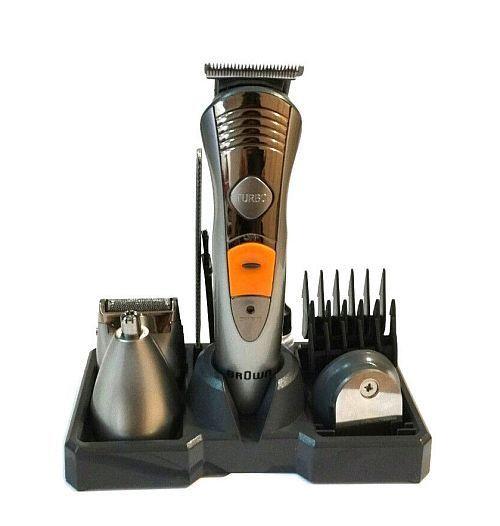 Аккумуляторная машинка для стрижки  Brown Mp-5580,  7 в 1 (набор для стрижки волос и бороды)