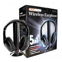Беспроводные наушники 5 в 1 + FM радио Wireless