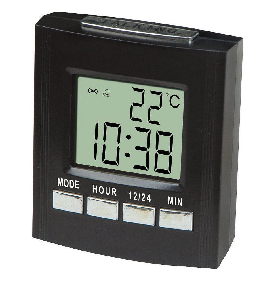 Говорящие настольные часы VST-7027C, с термометром