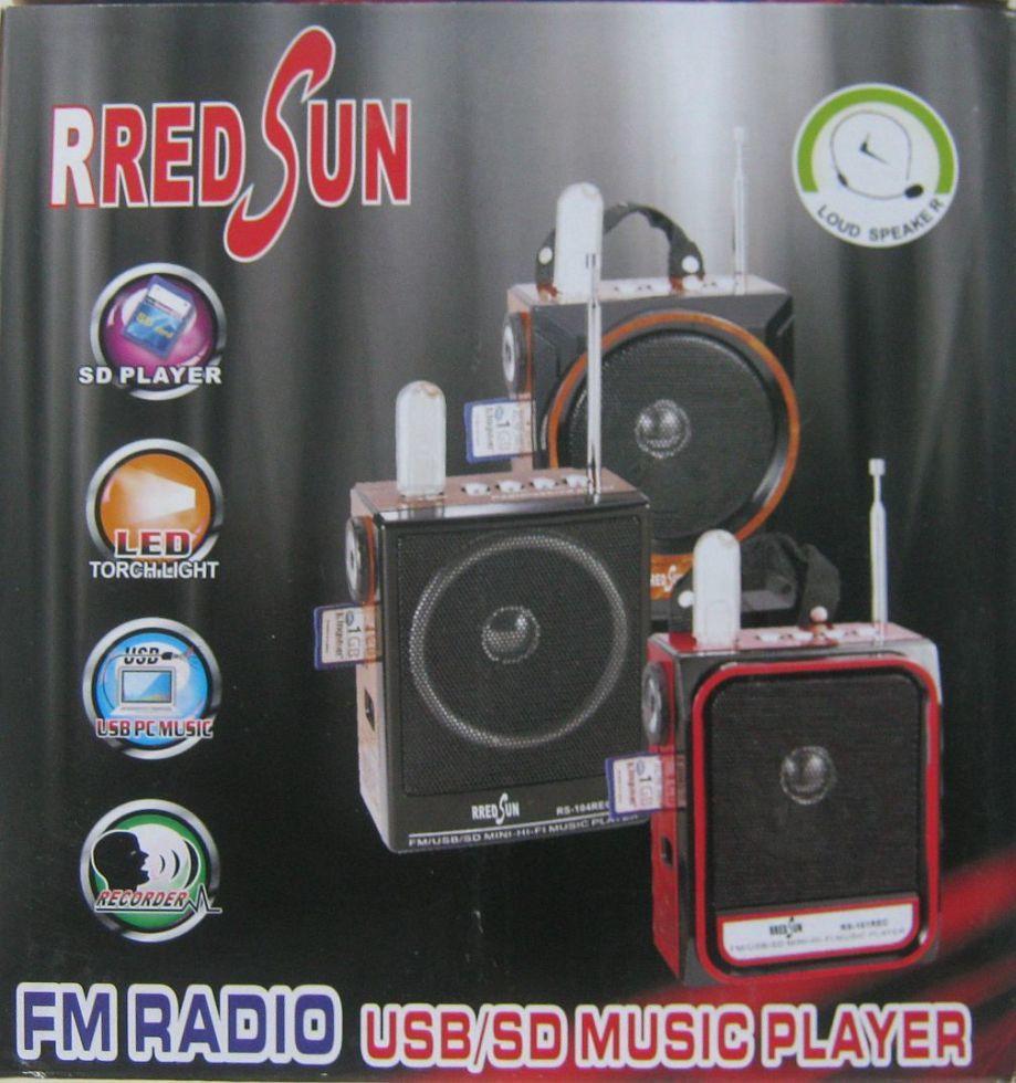 Гучномовець RS-103REC з головним мікрофон і ліхтариком