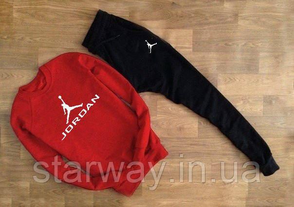 Спортивний трикотажний костюм Jordan лого значок ім'я | червоний верх чорний низ