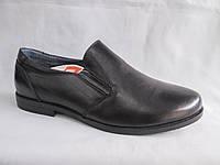 Подростковые туфли на мальчика оптом 36-41 р. гладкие черные