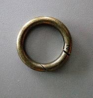 Кольцо-карабин 28 мм, антик
