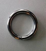 Кольцо-карабин 34 мм, черный никель