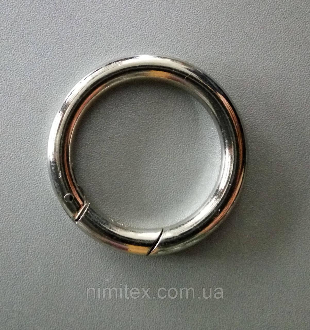 Кольцо-карабин 39 мм никель
